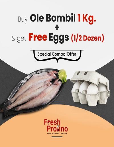 Ole Bombol 1Kg + 1/2 Dozen eggs Free - combo pack
