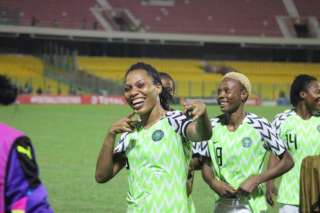Videos: Super Falcons Celebrating Round Of 16 Qualification In France