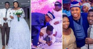 Comedian Dele Omo Woli Weeps In Joy As He Weds His Heartthrob (Photos)