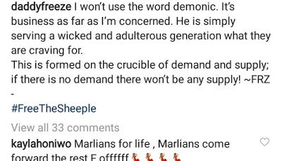 Daddy Freeze reacts to Apostle Omashola's claim that Naira Marley is a demon