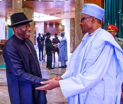 Goodluck Jonathan Meets Buhari In Aso Rock