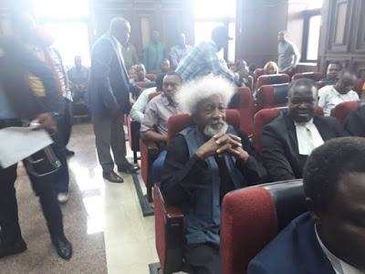 PHOTOS: Soyinka, Shehu Sani In Court For Sowore