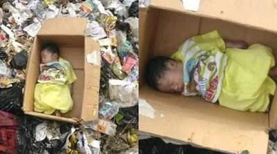 PHOTOS: Body Of Newborn Baby Found In Refuse Dump In Calabar