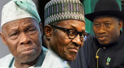 Obasanjo Buhari and Jonathan