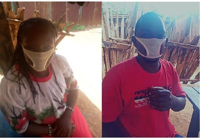 PHOTOS: Duped Residents Of Kenyan Community Wear Female Panties Cut Into Facemasks