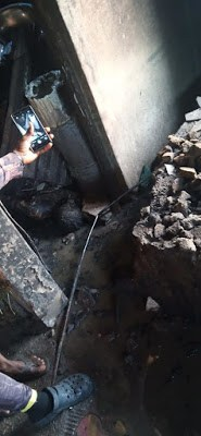 PHOTOS: Woman And Her 2 Children Burnt To Death In Rivers