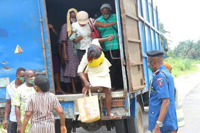 PHOTOS: Vigilante Foil Attempt To Smuggle 24 Women From Akwa To Abia