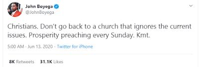 Avoid Prosperity Churches – John Boyega Advises Christians