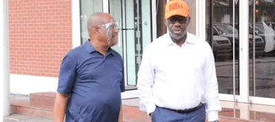PHOTOS: Defection Looms As Governor Nyesom Wike Hosts Governor Obaseki In Rivers State