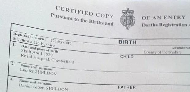 Couple Name Their Son 'Lucifer'