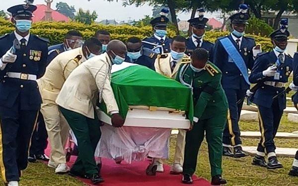 Arotile's Body Arrives Military Cemetary For Burial (Photos)