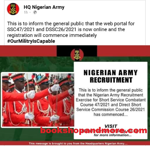Nigerian Army Recruitment 2020/2021 Begins, See Requirements And How To Apply
