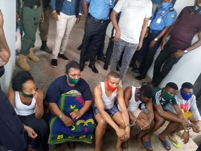 PHOTOS: Police Parade Killers Of UNIBEN Student, Uwa Omozuwa
