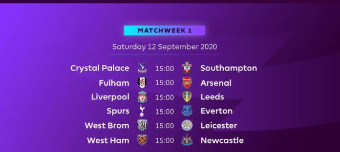 English Premier League Announces 2020/21 Fixtures, See Full Fixtures