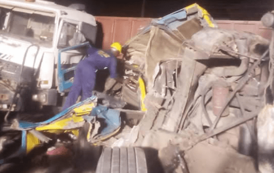2 Women Dead As Truck And Tanker Collide With Commercial Bus In Lagos (Photos)