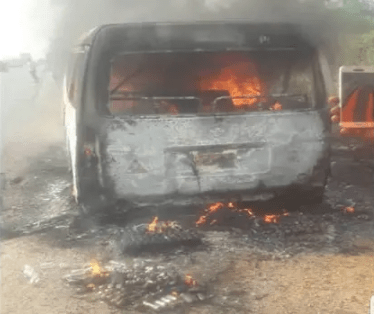 8 People Burnt To Death In Lagos Accident