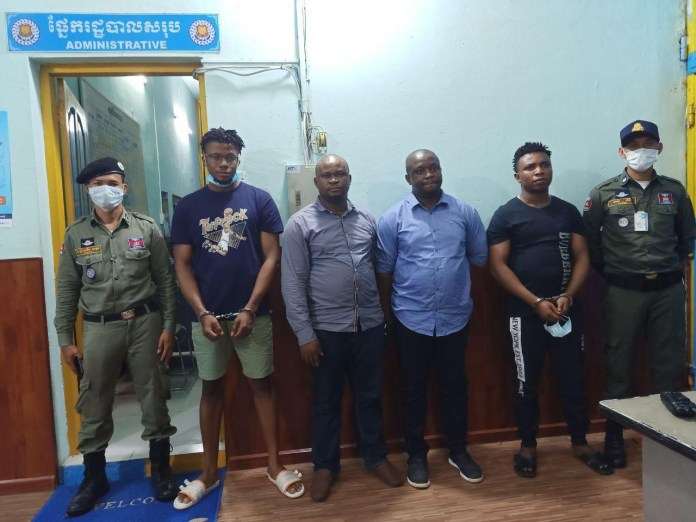 4 Nigerians And A Cambodian Arrested Over Scam And Money Laundering