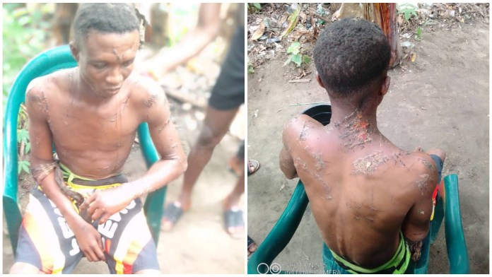 PHOTOS: OSPAC Tortured Man With Cutlass For Fighting In Rivers