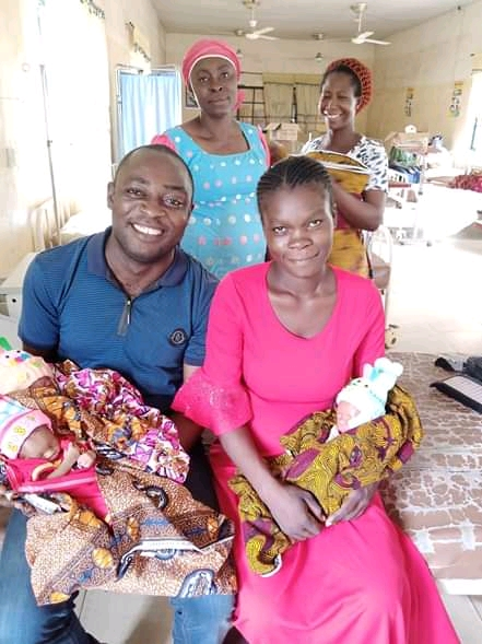 WOW😲 Woman Abandoned By Her Husband Delivers Triplets In Edo (Photos)