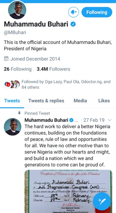 #EndSars: Buhari Loses 100K Followers On Twitter As Reno Omokri Starts #unfollowbuhari