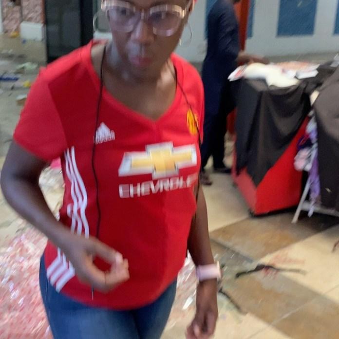 Fela Durotoye's Wife, Tara Visits Her Vandalised Store In Lekki (Photos, Videos)
