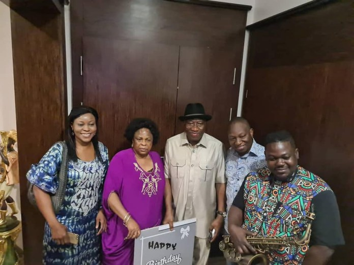 Goodluck Jonathan Cerebrates 63rd Birthday In Style, Serenaded By His Family Members (Photos/Video)