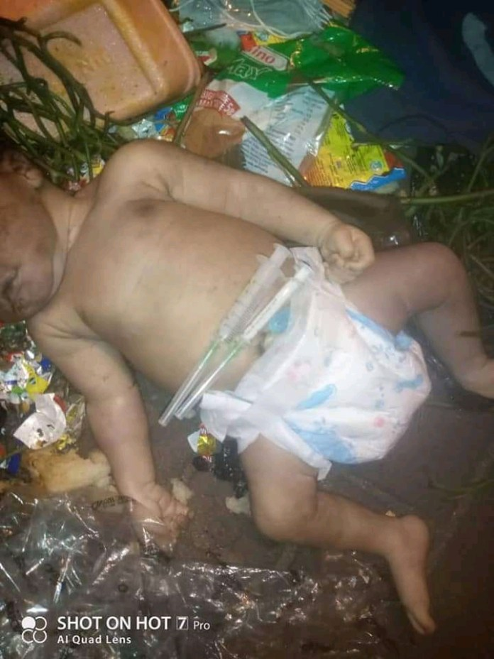 Lifeless Day-old Baby Found Dumped At Refuse Site In Port Harcourt (Photos)