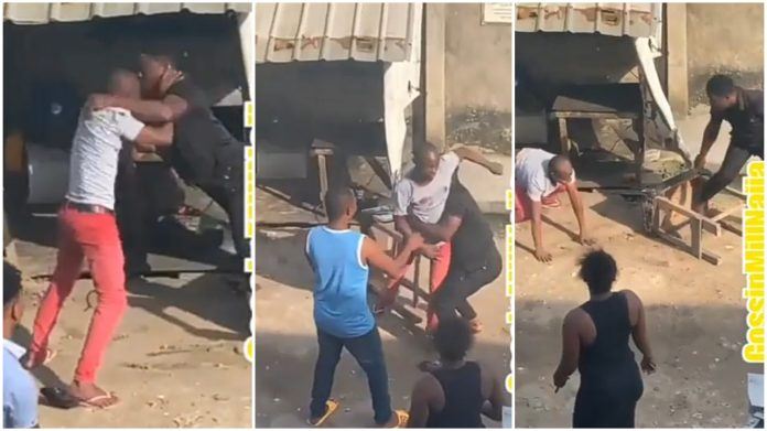 Man Beat Husband To Stupor After He Attack Him For Sleeping With His Wife (Video)