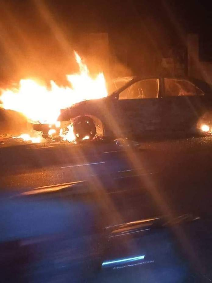 Angry Youths Set Car Ablaze After Reckless Driver Killed Pregnant Woman, Two Others In Ogun