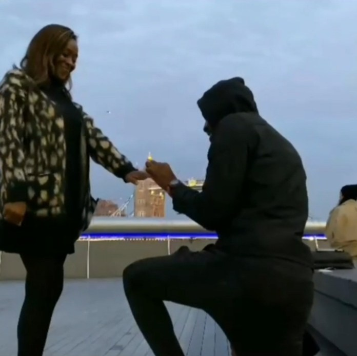 WATCH VIDEO: Moment Rapper Ikechukwu Proposed To His Girlfriend With The London Tower Bridge As Background