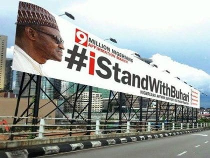 BREAKING: Panic As Fight Breaks Out Amongst #Istandwithbuhari Group