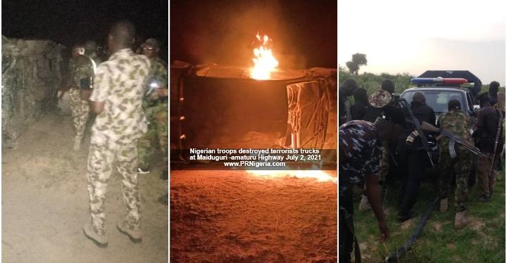 Nigerian Troops Eliminates 28 ISWAP-Boko Haram Terrorists, 3 Gun Trucks Destroyed