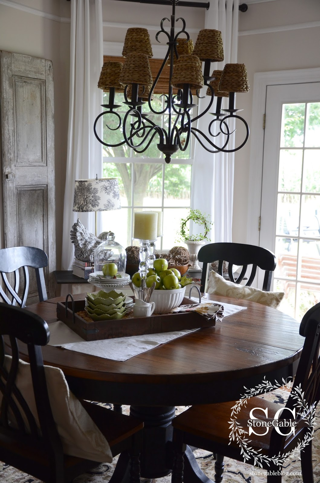via dining table decor everyday look