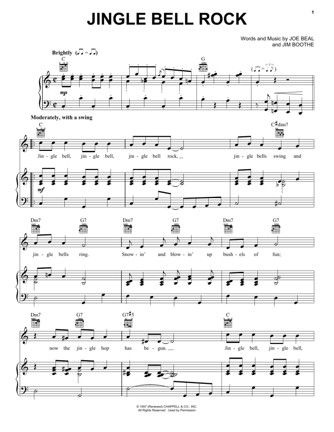 How To Play Jingle Bell Rock On Piano With Letters   Letternew.co