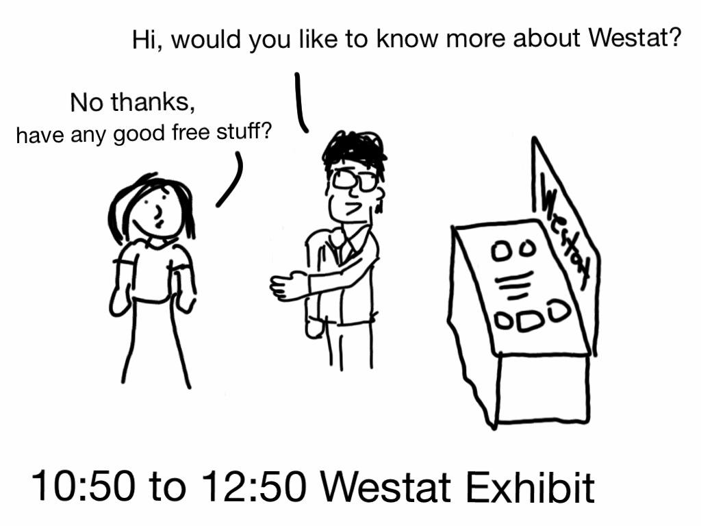 Working the Westat exhibit