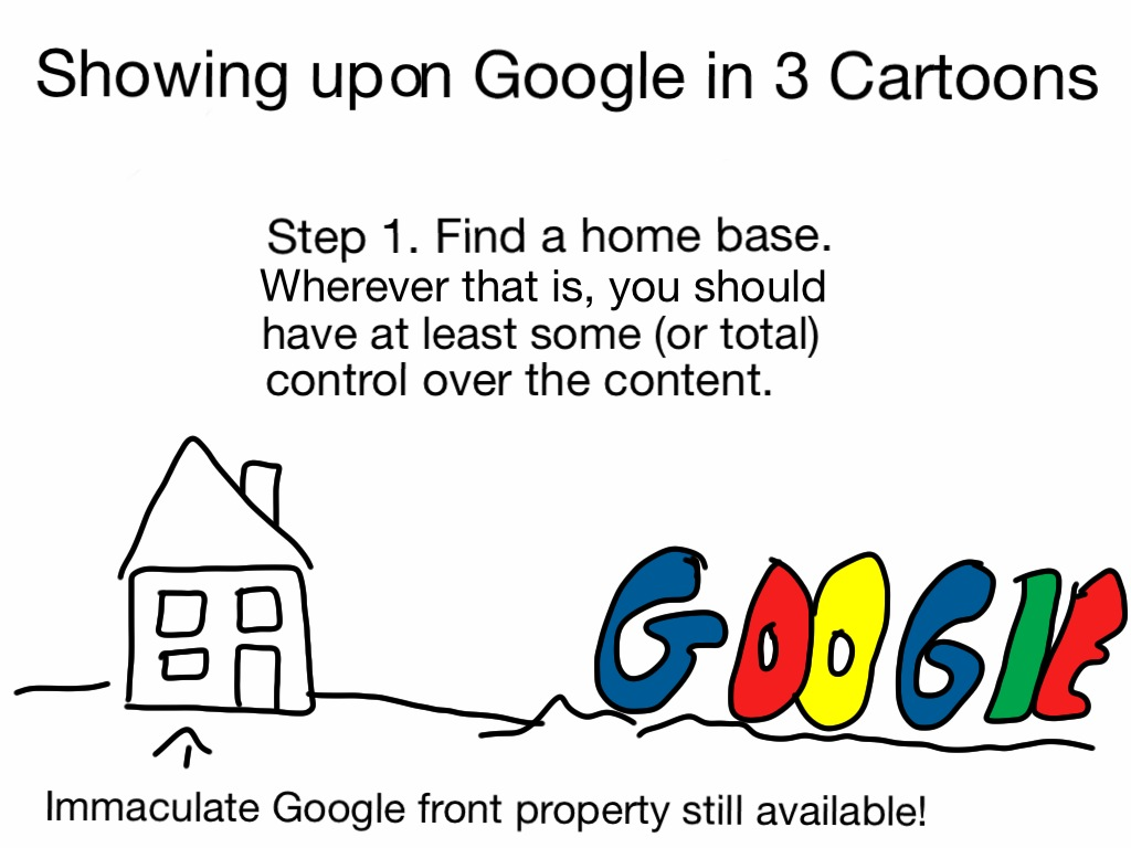 Find an online home base. Somewhere where you have control over the content.