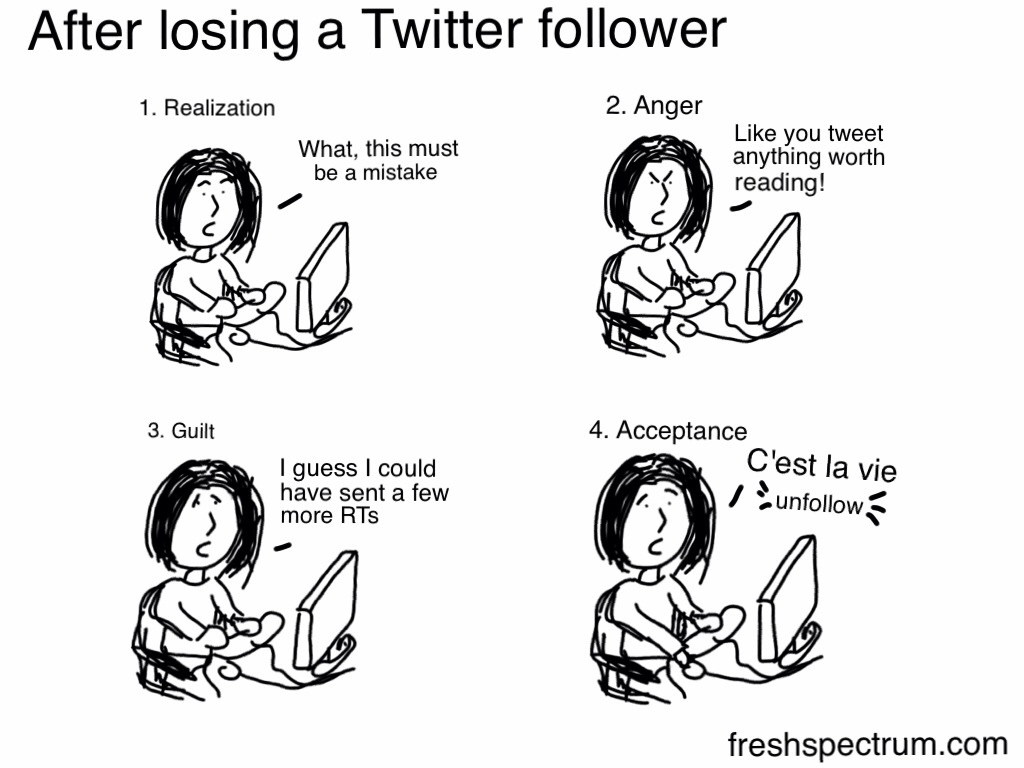 After losing a Twitter follower
