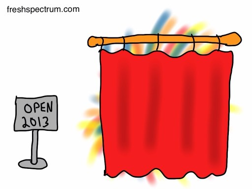 Curtain hiding something outstanding