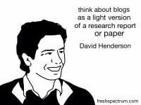 David Henderson Advice