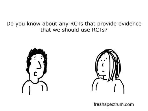 RCT Evidence for RCT Cartoon by Chris Lysy