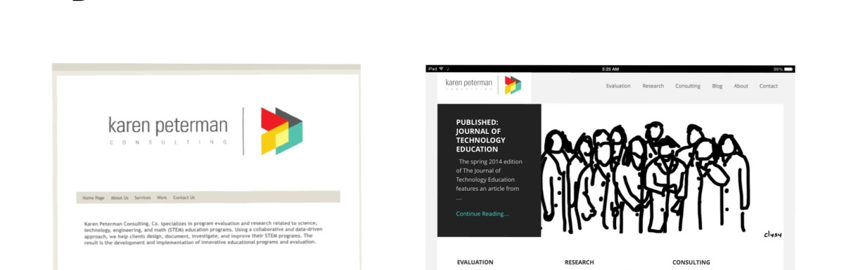 How to design your research or evaluation business website