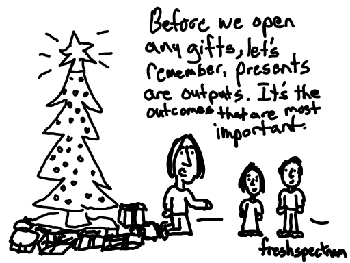 "The ""wow it's already December,"" holiday cartoon post"