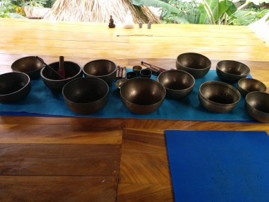 mastering how to play the singing bowls