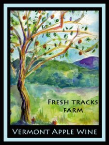 VT Apple Wine Label - Art by Sienna Fontaine