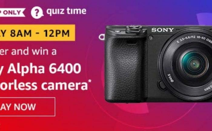 Win Sony Alpha 6400 Mirrorless Camera