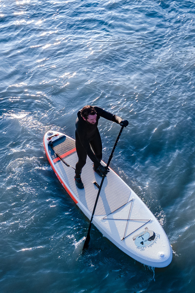 Moving from flat water to SUP surfing