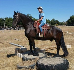 With a new lease on life, Skinny now spends his days helping people of all ages learn to ride.