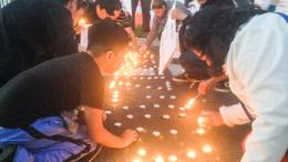 Vigil for missing 43 students in Mexico.