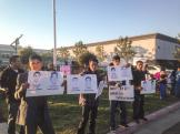 Vigil & Protest for Ayotzinapa 43 at Fresno Mexican consulate