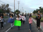 Youth leading the march.
